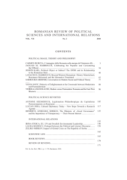 II - Romanian Review of Political Sciences and International Relations