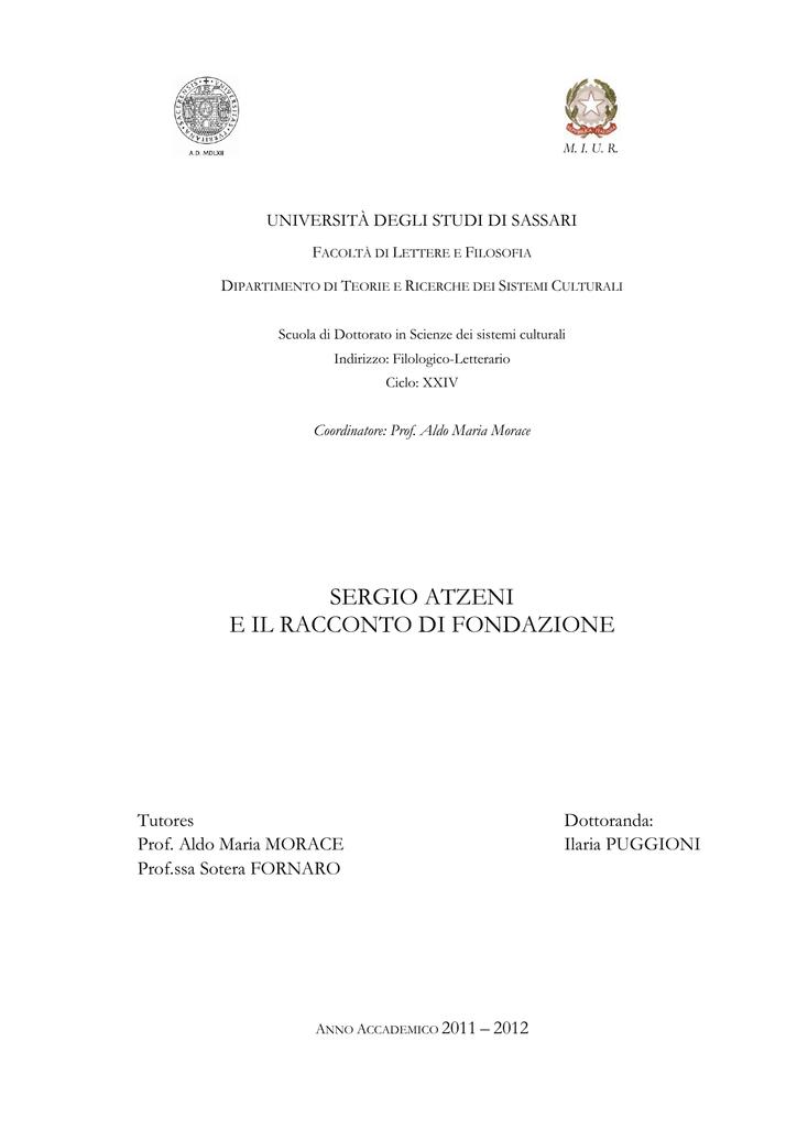 Sergio atzeni e e atzeni il racconto di fondazione 19365d