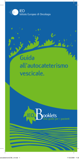 Guida all`autocateterismo - Istituto Europeo di Oncologia