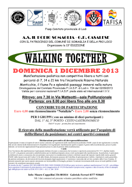 walking together - Podisti Ombriano