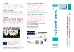 the project flyer in Italian