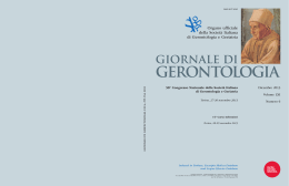 Giornale di Gerontologia - Journal of Gerontology and Geriatrics