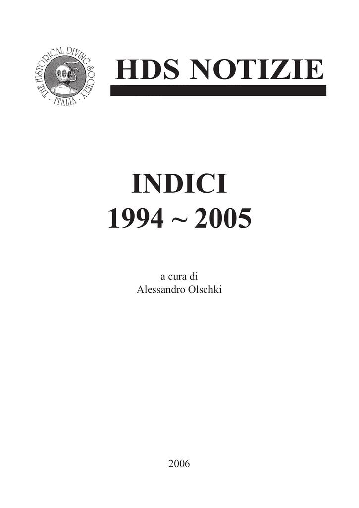 Tematico Numeri 2005 Dal 1994 Dei Al Indice L5j4RA