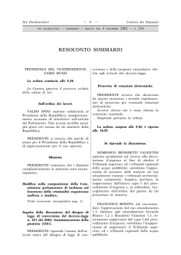 Sommario - Legislature precedenti