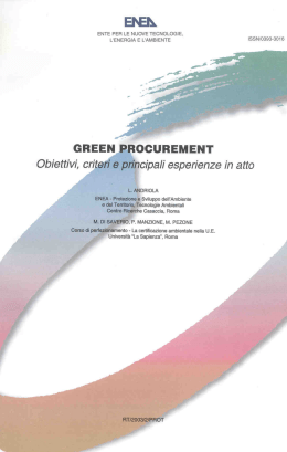 Green procurement – ENEA