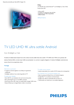 Product Leaflet: TV UHD 4K ultra sottile Android
