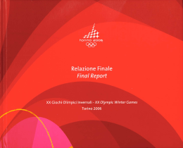Torino Olympic Winter Games Official Report Volume Three