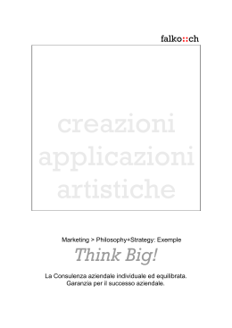 Opuscolo PDF - Consulting plus: Think Big.