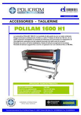 OPUSCOLO POLILAM 1600 H1