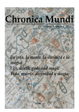 Resúmenes Chronica Mundi Volume 1 Issue 1 2011