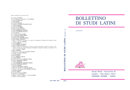 bollettino di studi latini