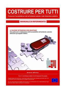 Manuale di riferimento - ENAT European Network for Accessible