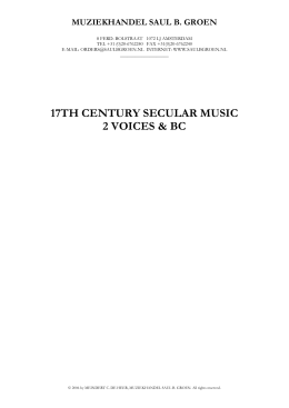 17th century secular music 2 voices & bc
