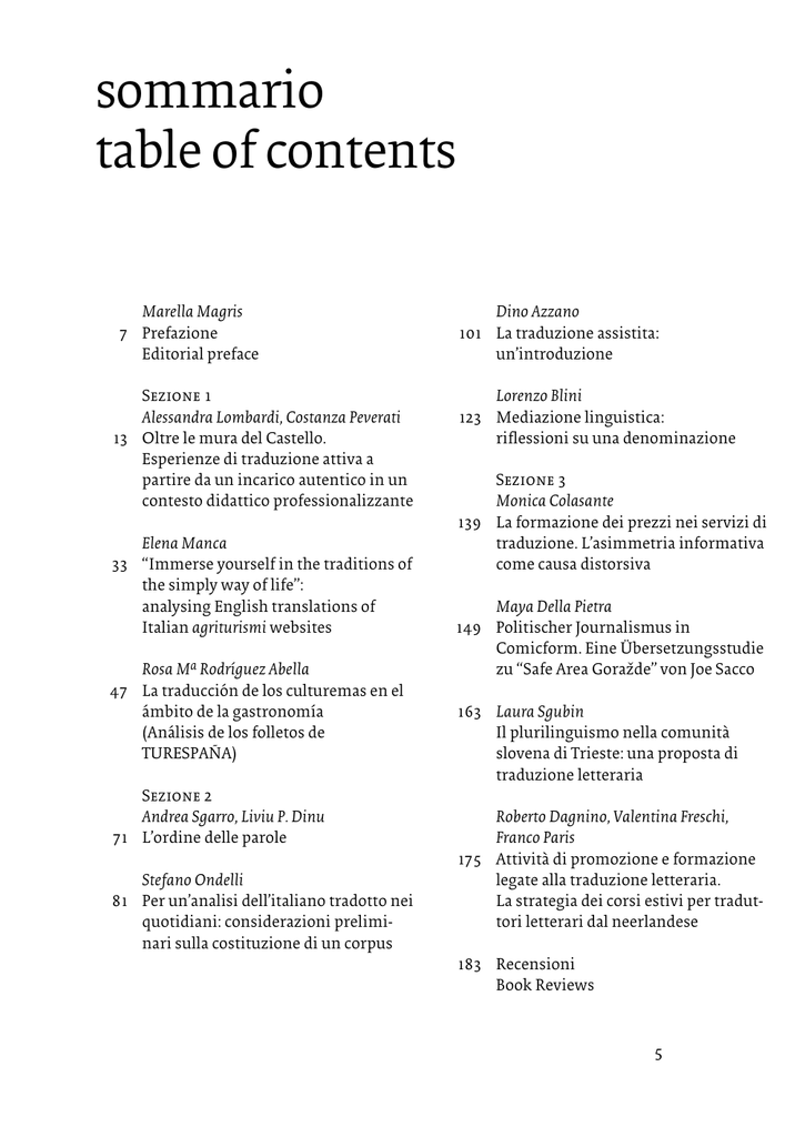 Sommario table of contents openstarts fandeluxe Choice Image