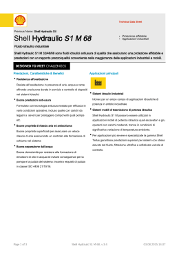 Page 1 Technical Data Sheet Previous Name: Shell Hydraulic Oil