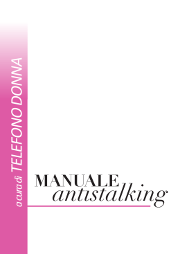 Scarica il manuale - Stop Stalking