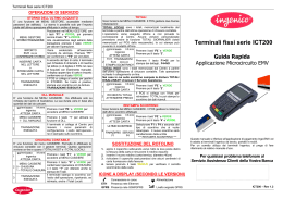 Manuale Ingenico ICT 220