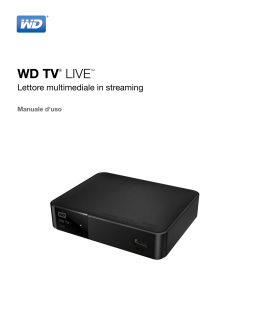 WD TV Live Streaming Media Player User Manual