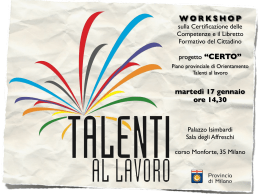 "WORKSHOP progetto ""CERTO"""