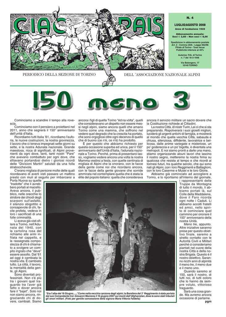 ciao pais 1 - Associazione Nazionale Alpini sezione di Torino c58bd02e5b12