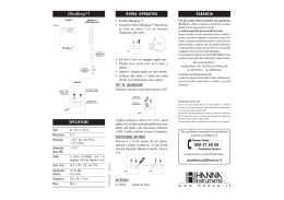 manuale - Hanna Instruments