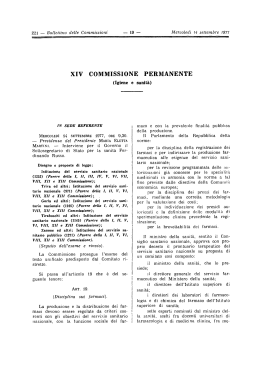 xiv commissione permanente