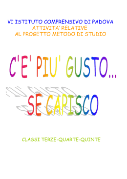 strategie di studio per classi 3°, 4°, 5