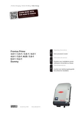 fronius primo 5.0 1 manual