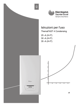 ThemaFast 4 Condensing - manuale d`uso
