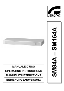 MANUALE D`USO OPERATING INSTRUCTIONS MANUEL D