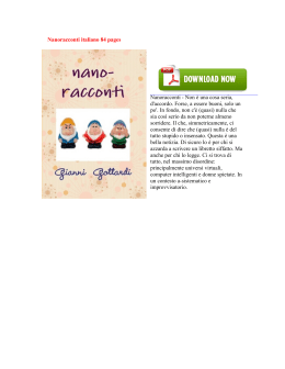 Nanoracconti italiano 84 pages Nanoracconti