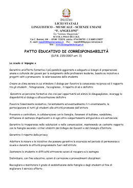patto educativo di corresponsabilità