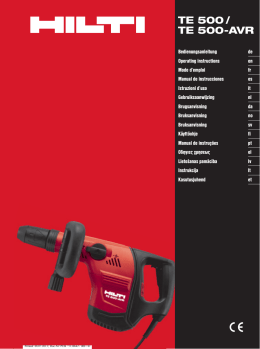 hilti dx 350 operating instructions
