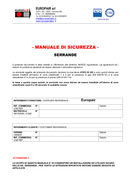 manuale di sicurezza - EUROPAIR