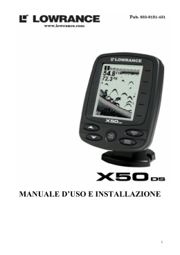 Manuale Italiano Lowrance X-50 DS