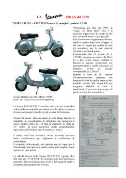 150 GS del 1955 - Vespa Club San Vincenzo