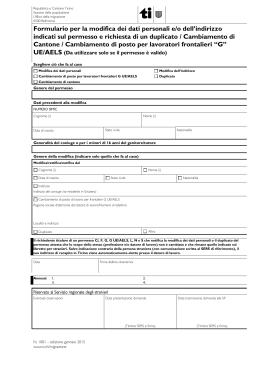 Domanda di permesso per stranieri (B1)