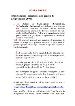 Calendario Esami Unibg Lingue.Esami Di Lingua Inglese Universita Degli Studi Di Bergamo