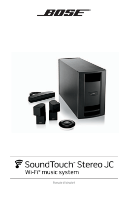 Manuale Istruzioni SoundTouch Stereo JC Wi-Fi