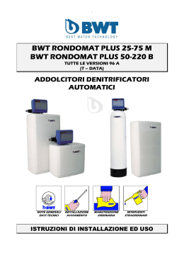 bwt rondomat plus 25-75 m bwt rondomat plus 50-220 b