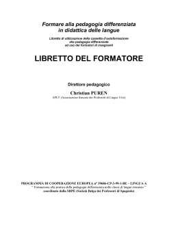 libretto del formatore - Association des Professeurs de Langues