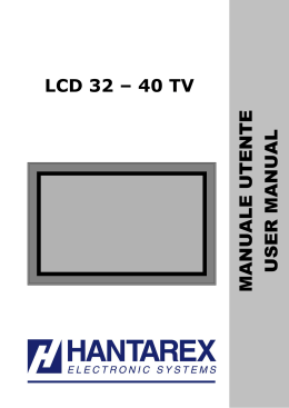 Hantarex TV Manuale LCD 32