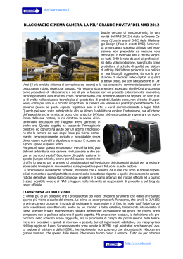 blackmagic cinema camera, la piu` grande novita` del nab