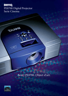 PE8700 Digital Projector Serie Cinema BenQ PE8700