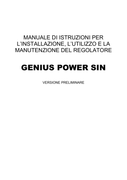 MANUALE GENIUS POWER SIN 01 marzo