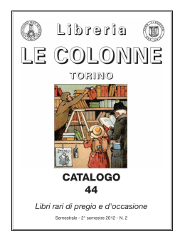 Catalogo 44 - Libreria Antiquaria Le Colonne