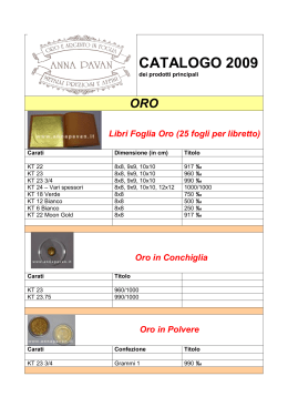 Catalogo in formato