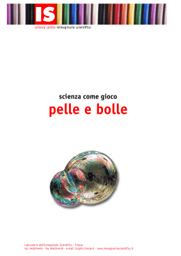 pelle e bolle - Immaginario Scientifico