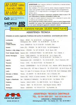 Manuale 32LED2 100Hz Full Hd (3,6 Mb pdf)