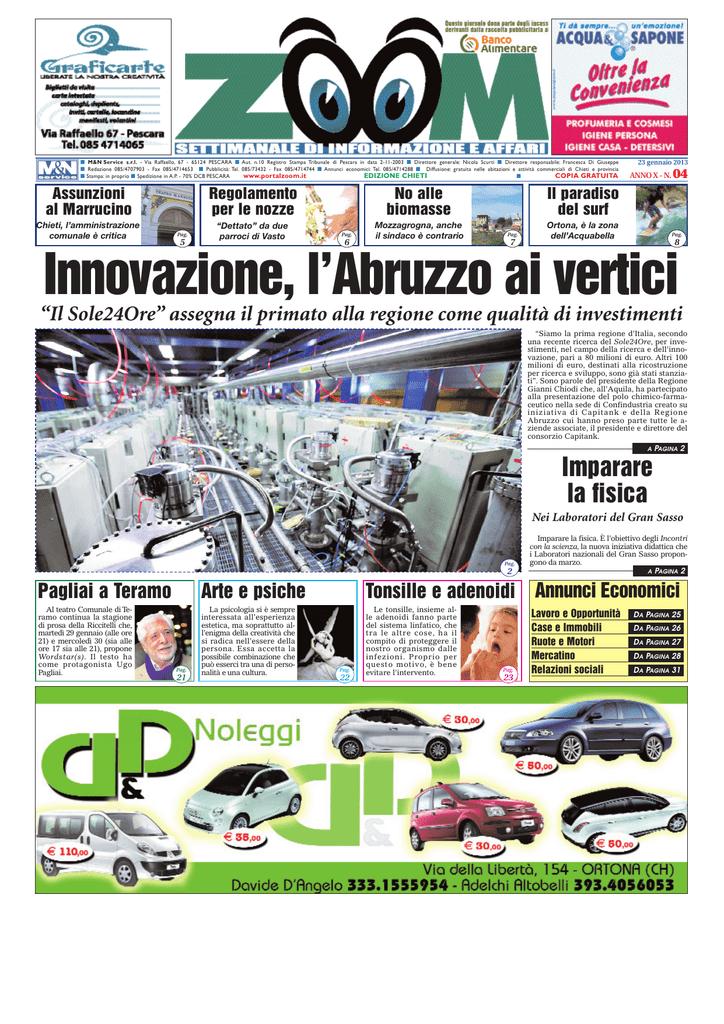 Innovazione, l`Abruzzo ai vertici